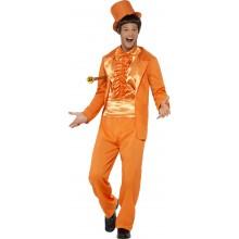 Smoking Karnevalskostyme 90-talls Oransje