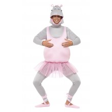 Ballerina Flodhest Karnevalskostyme