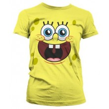 T-Skjorte Spongebob Happy Dame
