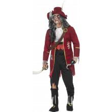 Zombie Pirat Karnevalskostyme Deluxe
