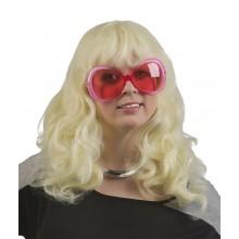 Blond Langt Bølgete Parykk