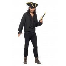 Piratskjorte Svart