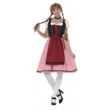 Ølpike Lang Kjole Kostyme Oktoberfest