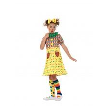 Klovnekjole Karnevalskostyme Barn
