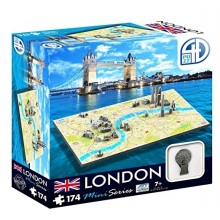 Bypuslespill 4D Mini London