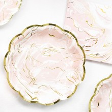 Tallerkener Rosa Marmor 8-pakning