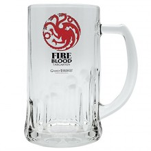 Game of Thrones ølglass Targaryen