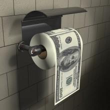 100 Dollar Toalettpapir