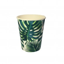 Pappkopper Palmeblad 8-pakning