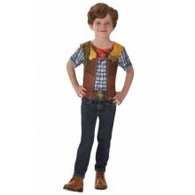 Cowboy T-skjorte Karnevalskostyme Barn