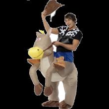 Ride Em Cowboy Oppblåsbart Kostyme