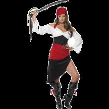 Frekk Pirat Tøs Kostyme med Skjørt