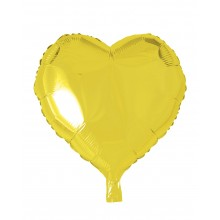 Folieballong Hjerte Gul