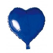 Folieballong Hjerte Blå