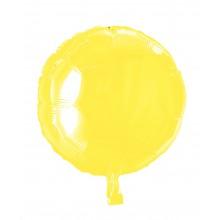 Folieballong Rund Gul