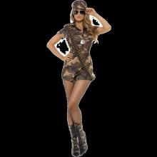 Kostyme Sexy Militærjente