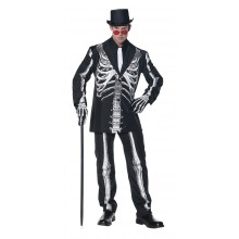 Kostyme Skjelett Karnevalsdrakt