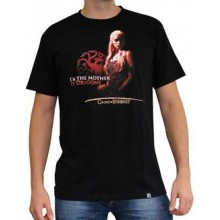 GoT Mother of Dragons T-Skjorte Sort