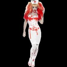 Kostyme Bloddryppende Sykepleier