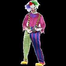 Fargerike Morder Klovne Kostyme Voksen