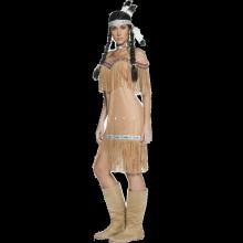 Autentisk Indianerkvinne-kostyme
