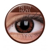 Fargede linser big eyes pretty hazel