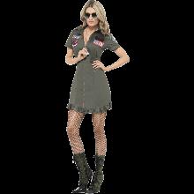Kostyme Top Gun Dame