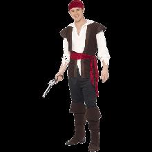 Pirate-Kostyme, svart