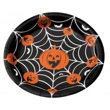 Tallerkener Halloween 8-pakning