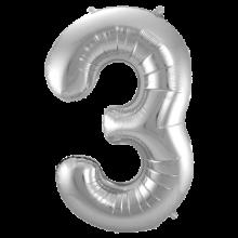 Jumbo Sifferballong Silver 3