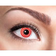 Fargede linser Red Spiral