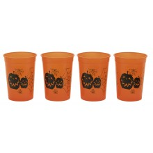 Halloween Kopper Oransje 4-pakning