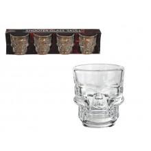 Shotglass Hodeskaller 4-pakning
