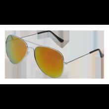 Solbriller Pilot Speilglass Rød