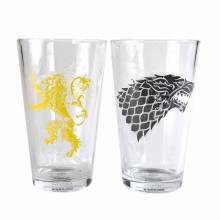 Game Of Thrones Glass Stark & Lannister 2-pack