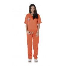 Kvinnelig Fange Karnevalskostyme Oransje