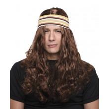 Parykk Med Hårbånd Hippie