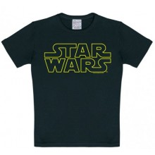 T-Skjorte Star Wars Logo Barn Sort