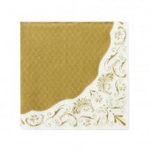 Servietter Elegant Gull 20-pakning