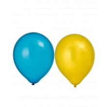 Ballonger Metallic Gul/Blå 8-pakning