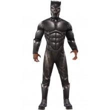 Black Panther Maskeraddräkt Vuxen Deluxe