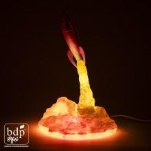 Blast Off Rakett Lampe