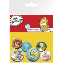 The Simpsons Buttons 6-Pack Homer