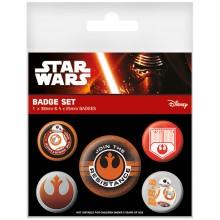Star Wars Episode Vii Resistance Badges 5-Pakning