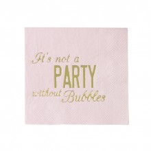 Servietter It´s Not A Party Without Bubbles 16-pakning