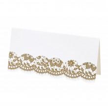 Bordkort Elegant Gull 10-pakning