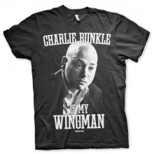 T-Skjorte Charlie Runkle Is My Wingman (Sort)