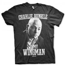 T-Skjorte Charlie Runkle Is My Wingman (Sort)