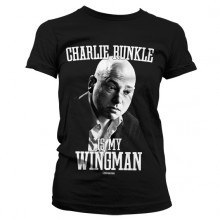 T-skjorte Charlie Runkle Is My Wingman Dame (Sort)