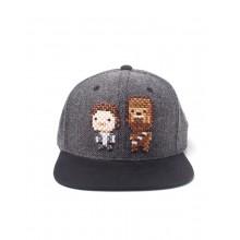 Star Wars Han Solo & Chewbacca Pixel Snapback Caps